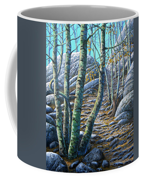 Trees Coffee Mug featuring the painting Aspen Trail by Frank Wilson