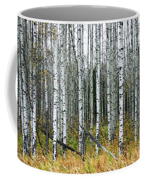 Aspens Coffee Mug featuring the photograph Aspens by Nelson Strong