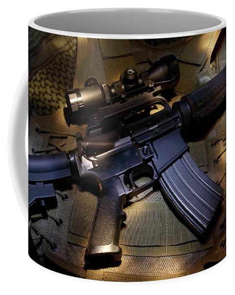 Assault Coffee Mug featuring the photograph Assault by Daniel Alcocer
