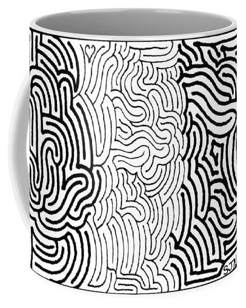 Mazes Coffee Mug featuring the drawing Assimilation by Steven Natanson