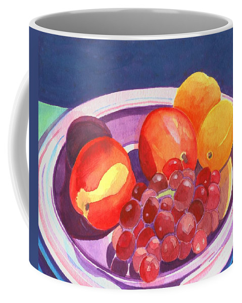 Grape Coffee Mug featuring the painting Assorted Fruit by Helena Tiainen