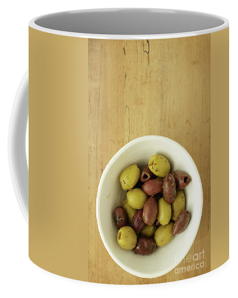 Olives Coffee Mug featuring the photograph Assorted Greek Olives by Edward Fielding