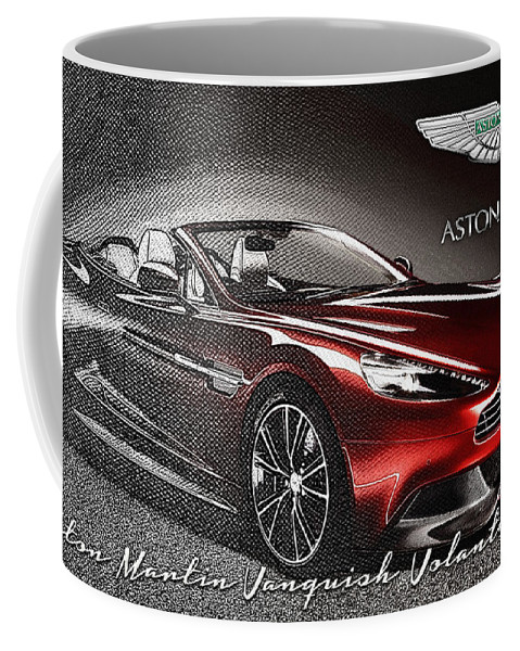 �wheels Of Fortune� Collection By Serge Averbukh Coffee Mug featuring the photograph Aston Martin Vanquish Volante by Serge Averbukh