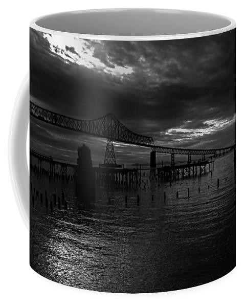 Landscape Coffee Mug featuring the photograph Astoria-megler Bridge 4 by Lee Santa