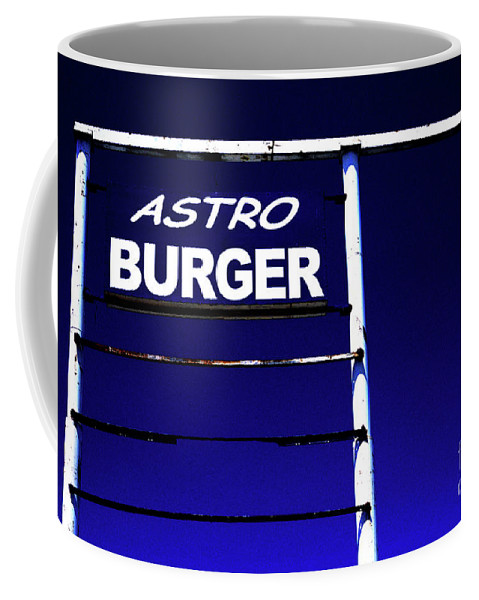 Sign Coffee Mug featuring the photograph Astro Burger by Jim And Emily Bush