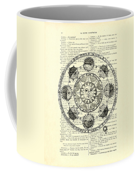 Astrology Coffee Mug featuring the digital art Astrology Chart, Solar System by Madame Memento