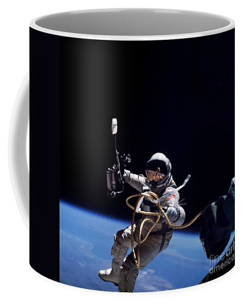 Adults Only Coffee Mug featuring the photograph Astronaut Floats In Space by Stocktrek Images