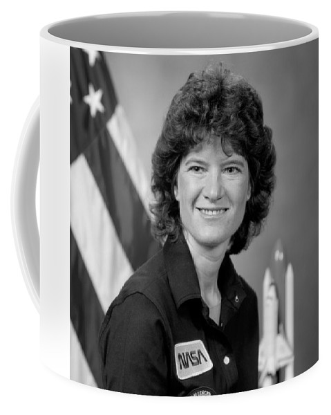 Sally Ride Coffee Mug featuring the photograph Astronaut Sally Ride by War Is Hell Store