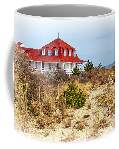 At Cape May Point Coffee Mug featuring the photograph At Cape May Point by Carolyn Derstine