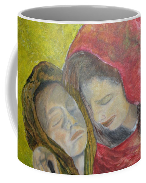 New Artist Coffee Mug featuring the painting At Last They Sleep by J Bauer