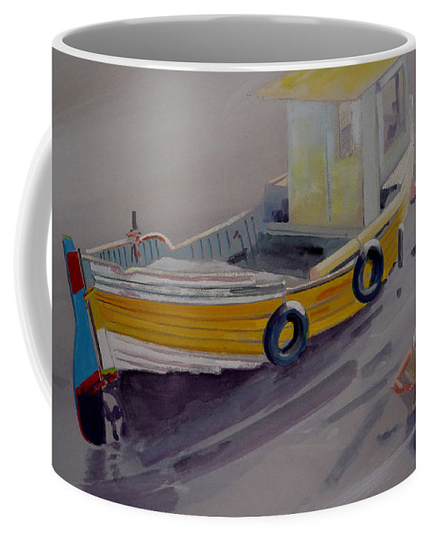Seascape Coffee Mug featuring the painting At Low Tide by Charles Stuart