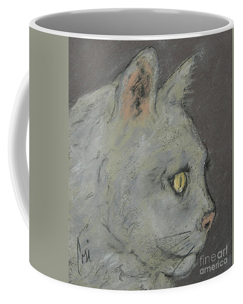 Pastels Coffee Mug featuring the drawing At Peace by Cori Solomon