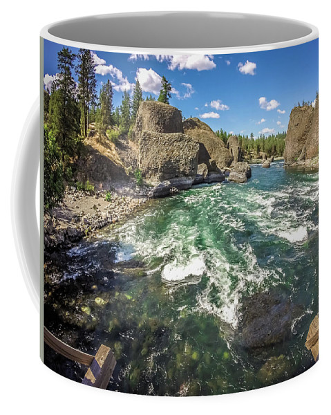 Washington Coffee Mug featuring the photograph At Riverside Bowl And Pitcher State Park In Spokane Washington by Alex Grichenko