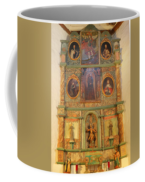 Alter Coffee Mug featuring the photograph At The Alter San Miguel Mission Santa Fe New Mexico by Jeff Swan