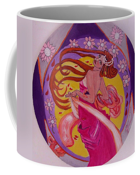 Art Nouveau Coffee Mug featuring the painting At The Ball by Rusty Gladdish