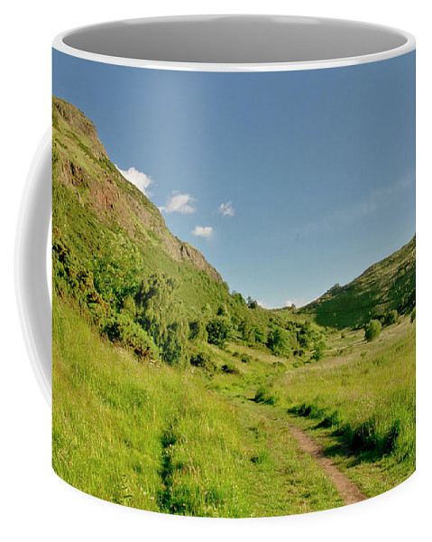 Edinburgh Coffee Mug featuring the photograph At The Base Of The Ancient Volcano. by Elena Perelman