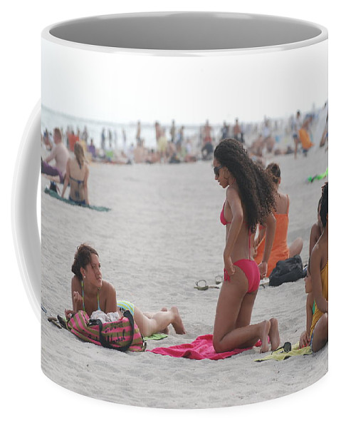 Girls Coffee Mug featuring the photograph At The Beach by Rob Hans