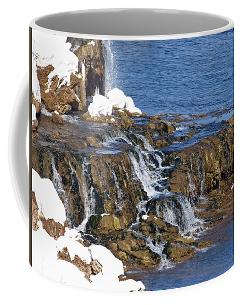 Water Coffee Mug featuring the photograph At The Bottom Of The Falls by DeeLon Merritt