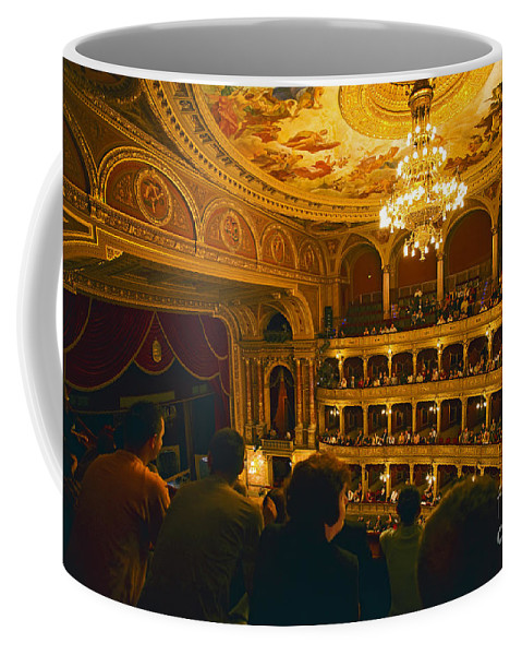 Opera House Coffee Mug featuring the photograph At The Budapest Opera House by Madeline Ellis