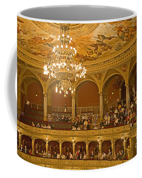 Budapest Opera Coffee Mug featuring the photograph At The Budapest Opera by Madeline Ellis