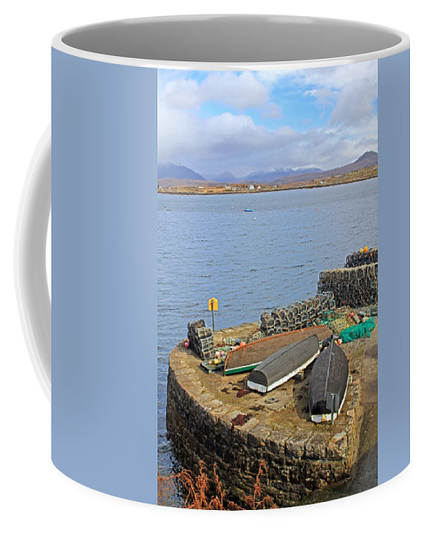 Boats Coffee Mug featuring the photograph At The Dock by Jennifer Robin