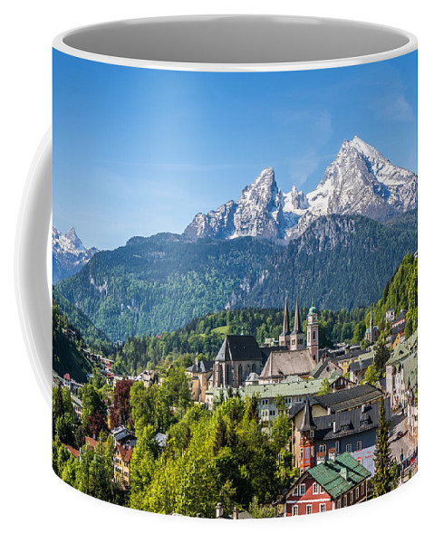 Alpen Coffee Mug featuring the photograph At The Foot Of The Watzmann by JR Photography