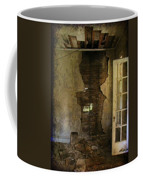 Abandoned Coffee Mug featuring the photograph At The Seams by Jessica Brawley