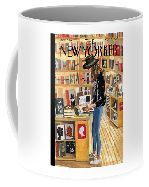 At The Strand Coffee Mug featuring the digital art At The Strand by Jenny Kroik