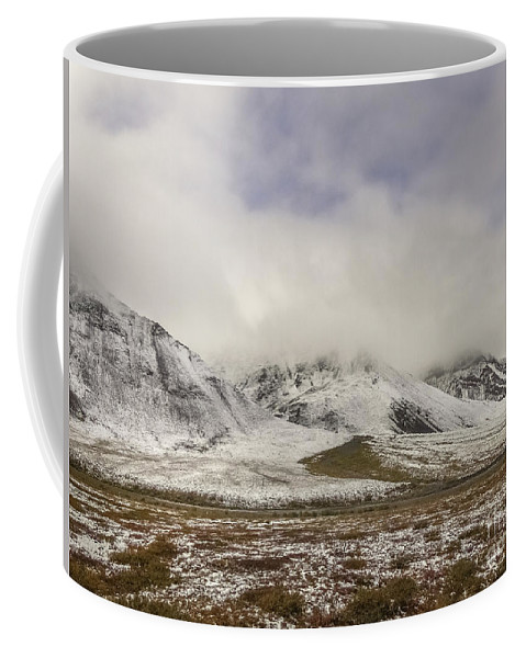 Atigun Pass Coffee Mug featuring the photograph Atigun Pass Brooks Range Alaska by Teresa A and Preston S Cole Photography