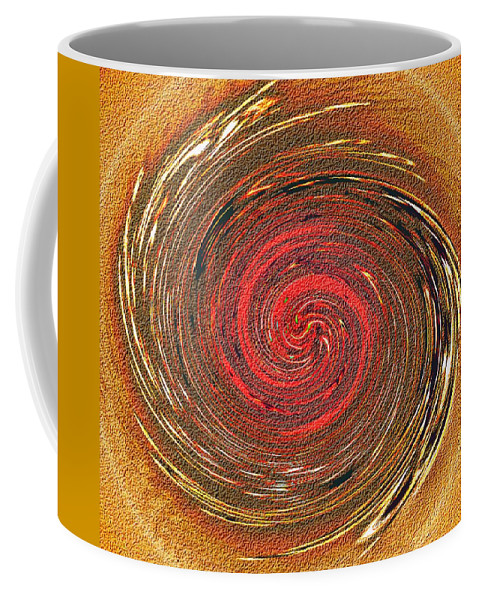 Abstract Coffee Mug featuring the digital art Atlantean Fire by Don Quackenbush