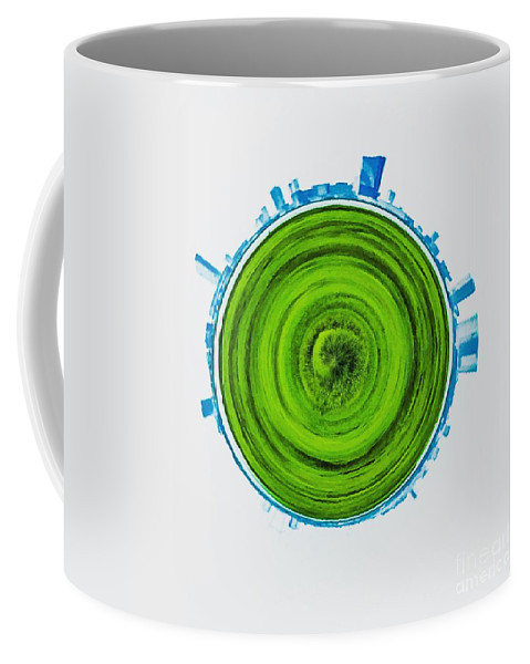 Abstract Coffee Mug featuring the photograph Atlantic City Abstract by Tom Gari Gallery-Three-Photography