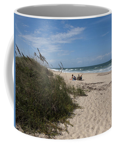 Beach Coffee Mug featuring the photograph Atlantic Ocean On The East Central Coast Of Florida by Allan Hughes