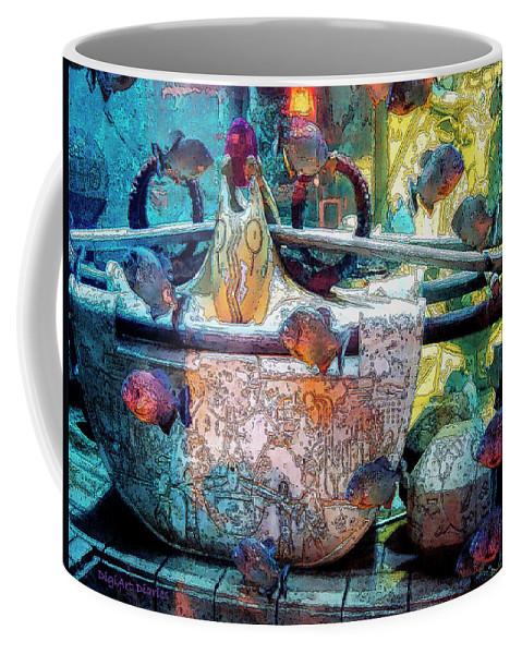 Bahamas Coffee Mug featuring the digital art Atlantis Aquarium In Watercolor by DigiArt Diaries by Vicky B Fuller
