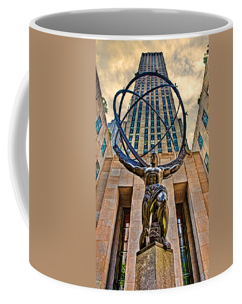 Atlas Coffee Mug featuring the photograph Atlas At The Rock by Chris Lord