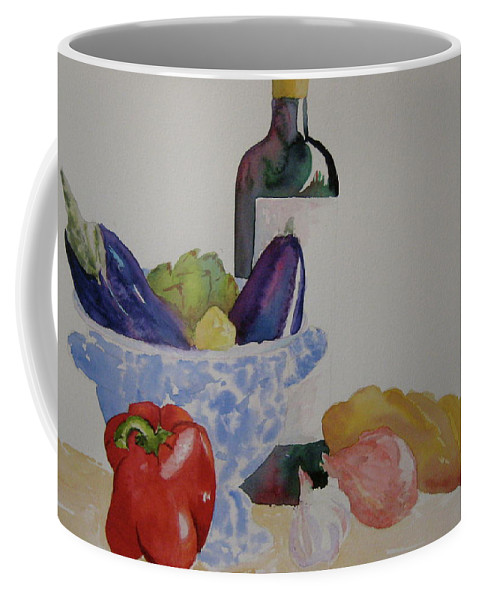 Wine Coffee Mug featuring the painting Atlas by Beverley Harper Tinsley