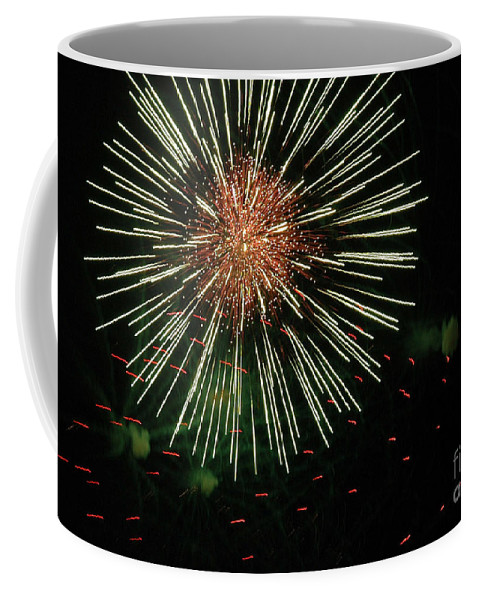 Fireworks Coffee Mug featuring the photograph Atom Burst by Norman Andrus