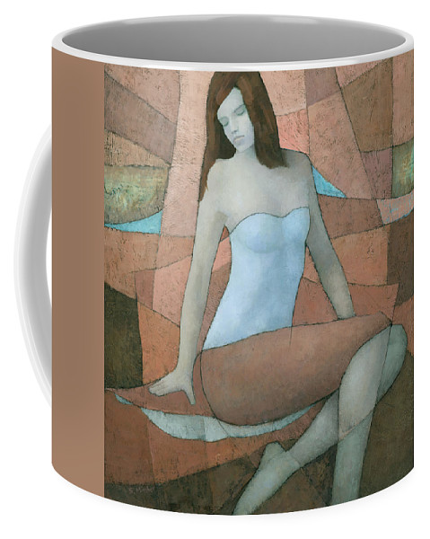 Original Coffee Mug featuring the painting Atomic Tangerine by Steve Mitchell