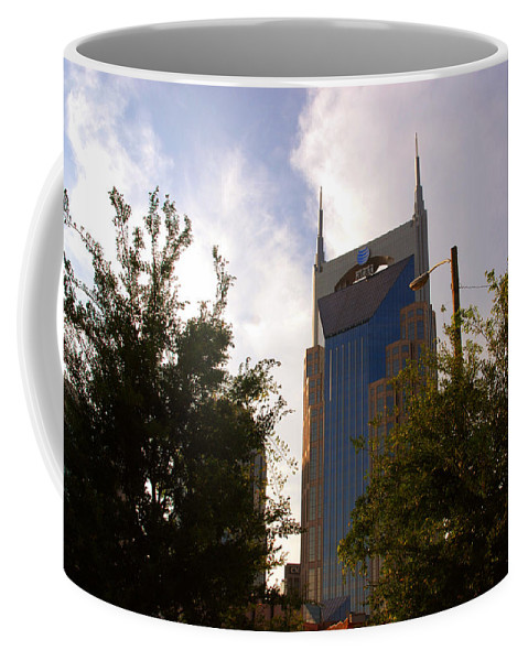 Nashville Coffee Mug featuring the photograph Att And Batman Are The Same by Susanne Van Hulst
