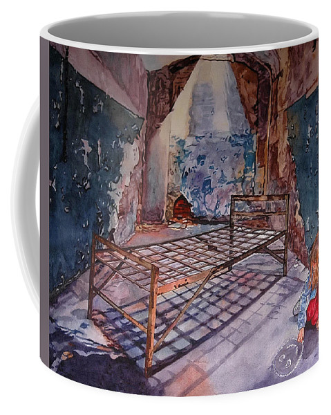 Social Commentary Coffee Mug featuring the painting Attitude by Valerie Patterson