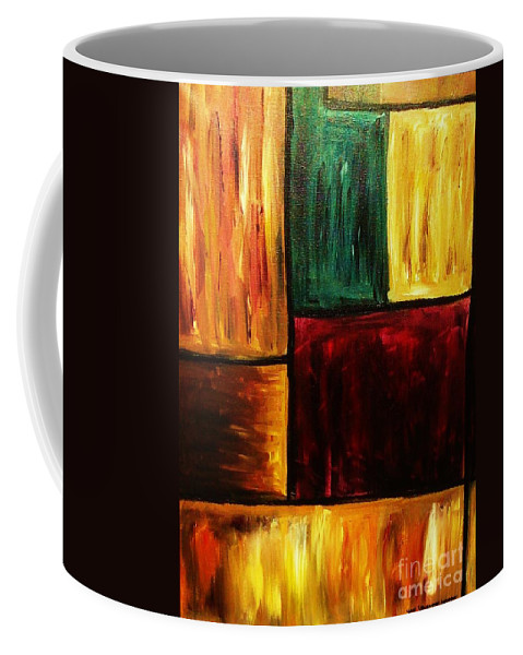 Abstract Coffee Mug featuring the painting Attractive by Yael VanGruber
