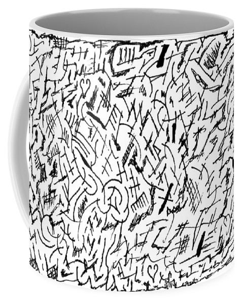 Mazes Coffee Mug featuring the drawing Audacious by Steven Natanson
