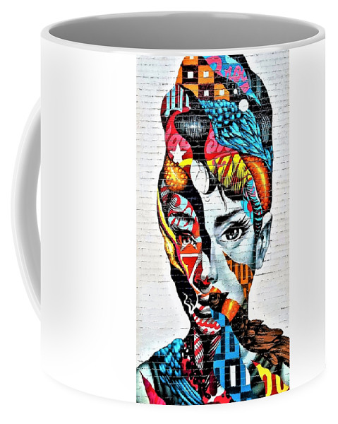 Architecture Coffee Mug featuring the photograph Audrey Hepburn Mural by Rob Hans