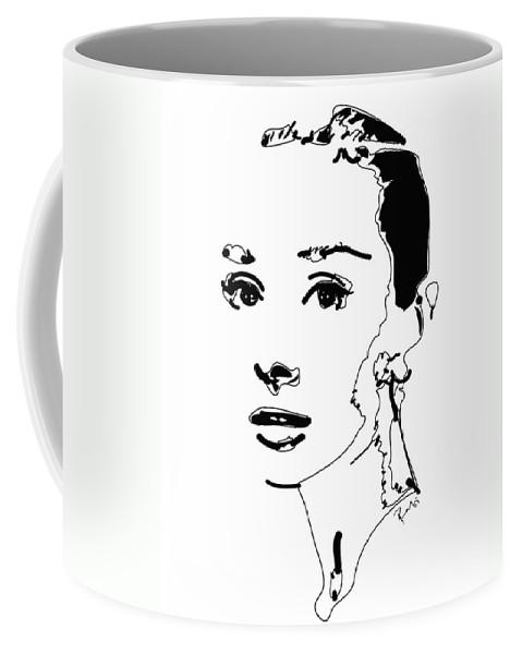 Actress Coffee Mug featuring the digital art Audrey Hepburn by Rabi Khan