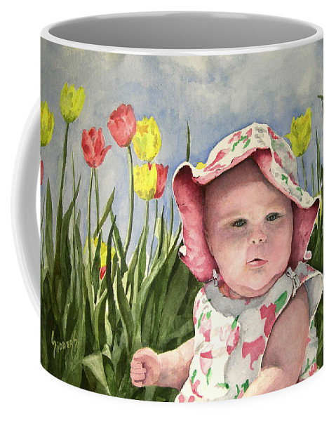 Kids Coffee Mug featuring the painting Audrey by Sam Sidders