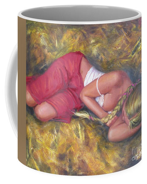 Ignatenko Coffee Mug featuring the painting August by Sergey Ignatenko