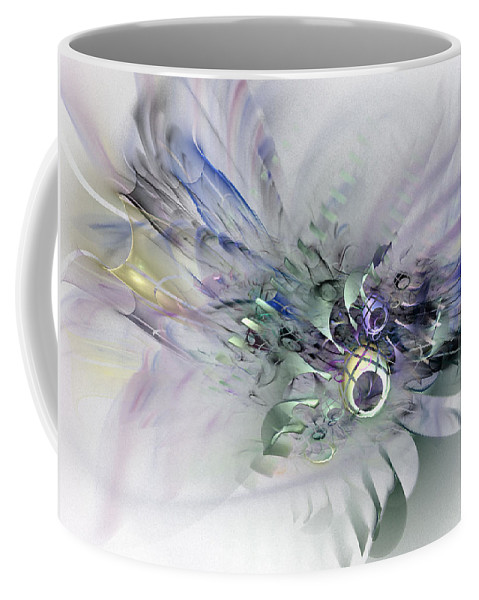 Contemporary Abstract Art Coffee Mug featuring the digital art August Silk - Fractal Art by NirvanaBlues