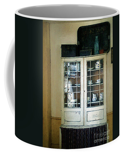 Room Coffee Mug featuring the painting Aunt Mae's China Closet by RC deWinter