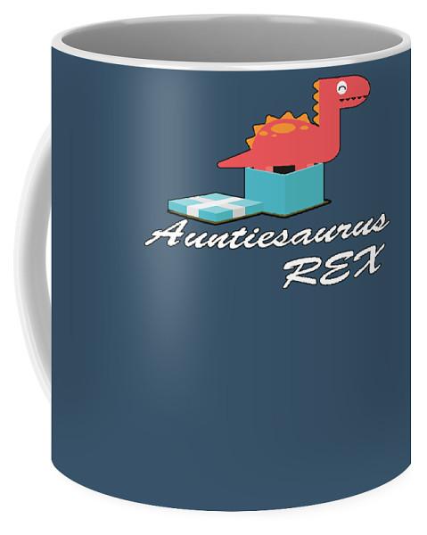 Aunt Coffee Mug featuring the digital art Auntisaurus Rex by Trisha Vroom