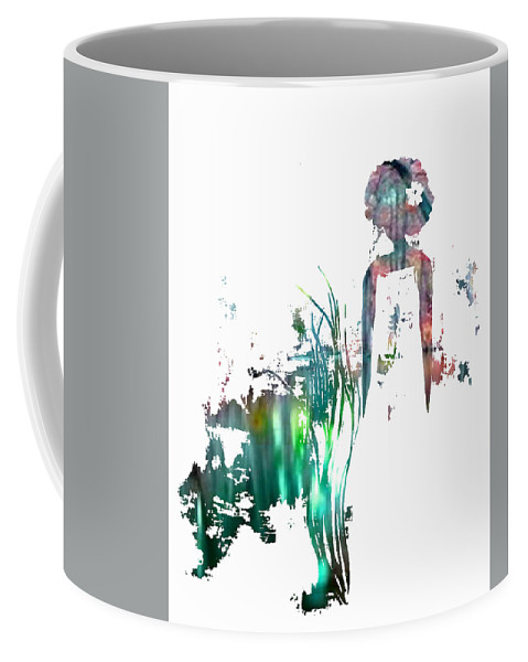 Coffee Mug featuring the painting Aurora Mist by Anitra Carter