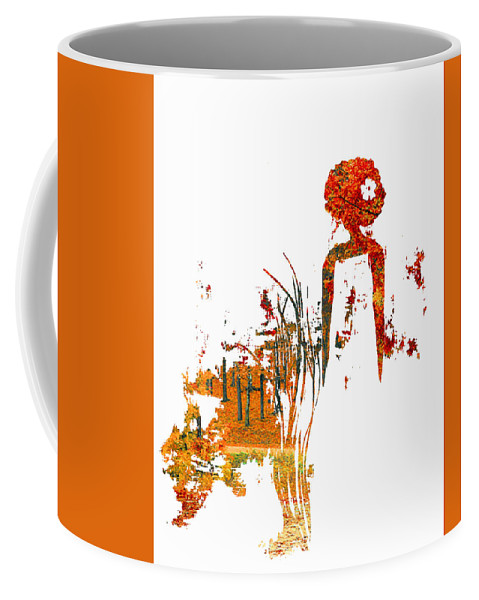 Coffee Mug featuring the painting Aurora Orange by Anitra Carter